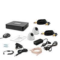 Комплект видеонаблюдения Tecsar 2IN DOME LUX