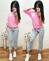 Женская стильная кофта с разрезом на спинке, 2 цвета