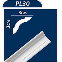 Потолочный плинтус РL 30 ТМ Premium Decor (30*30*2000 мм) (100 шт/уп)