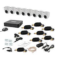 Комплект видеонаблюдения Tecsar AHD 8IN DOME