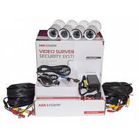 Комплект видеонаблюдения Hikvision TurboHD 1Mpix 4Cam