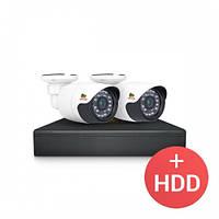 Комплект видеонаблюдения Partizan AHD 2x1MP OUT + HDD