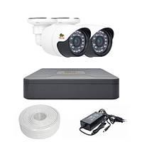 Комплект видеонаблюдения Partizan AHD 2x1MP OUT OmniVision
