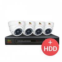 Комплект видеонаблюдения Partizan AHD 4x3MP IN PRO + HDD