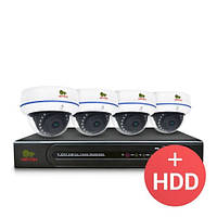 Комплект видеонаблюдения Partizan IP 4x1.3MP IN PRO + HDD