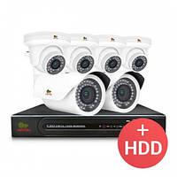 Комплект видеонаблюдения Partizan IP 6x2MP MIX PRO + HDD