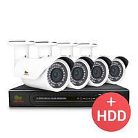 Комплект видеонаблюдения Partizan IP 4x2MP OUT + HDD