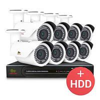 Комплект видеонаблюдения Partizan IP 8x2MP OUT + HDD