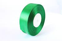 Атласная лента 2,5 см, 36 ярд (около 33 м), ярко-зеленого о- цвета оптом