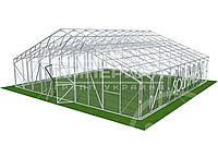 Двускатная теплица (Алюминиевый Каркас) Размер: 6 х 4.1 х 3.5 м