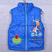 1ff3f822a99 Детская демисезонная жилетка Коровка  S1752 для девочек. 3-5 лет. Ярко-