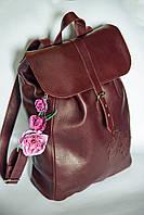Коричневый рюкзак из натуральной кожи (доставка бесплатно)