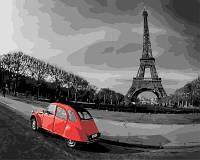 Раскраска по номерам без коробки Прогулка по окрестностям Парижа (BK-GX4335) 40 х 50 см