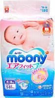 Unicharm Baby diapers/Детские подгузники Moony S RS81, 4-8кг