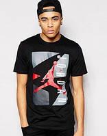 Футболка черная Jordan   джордан лого