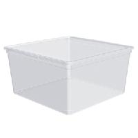 Ёмкость для хранения вещей с крышкой ЕВРО 17.5