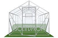 Двускатная теплица (Алюминиевый Каркас) Размер: 4 х 6.2 х 3 м