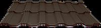 Модульная металлочерепица EGERIA Poliester Mat 0.5 Крупнозернистый шоколад
