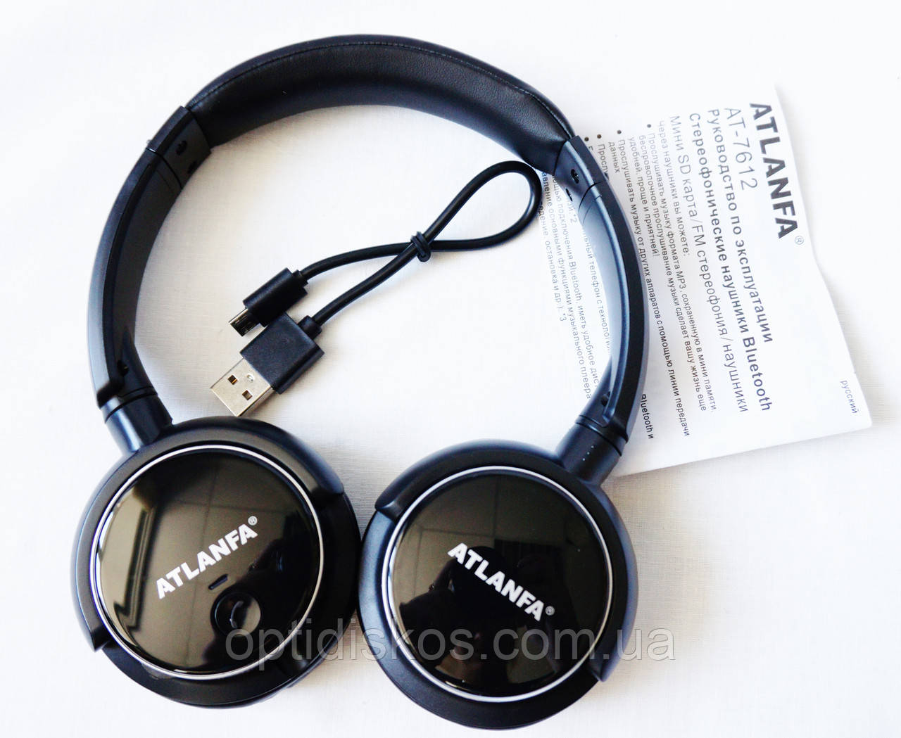 беспроводные Bluetooth наушники Atlanfa At 7612 Fm Mp3 плеер