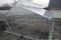 Двускатная теплица Миттлайдера (Алюминиевый Каркас) Размер: 4 х 4.1 х 3 м