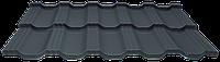 Модульная металлочерепица EGERIA Poliester Mat 0.5 Крупнозернистый графит