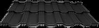Модульная металлочерепица EGERIA Poliester Mat 0.5 Крупнозернистый чорный