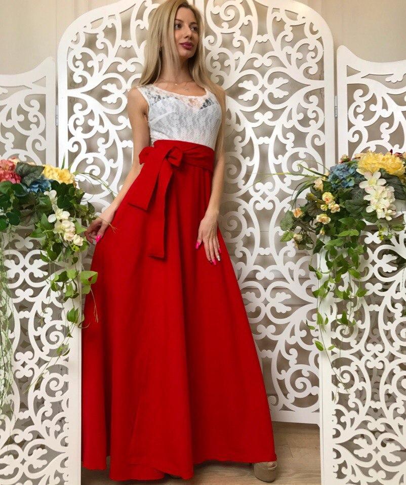 ea7d7e9562795e1 Женское платье в пол с гипюром летнее - RUSH STORE интернет-магазин женской  одежды в