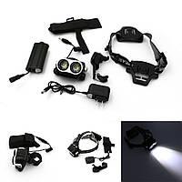 Налобный и велосипедный фонарь Police BL-04-2T6 (IPX-6)