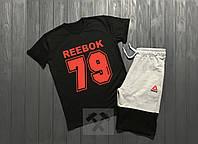 Комплект мужской шорты и футболка в стиле Reebok