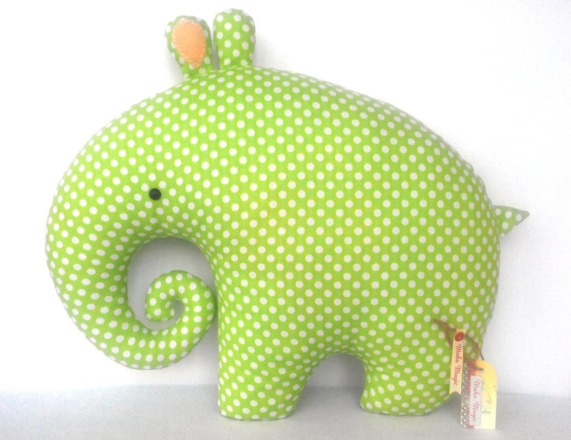 Подушка игрушка слоник Тифа 100% хлопковая.