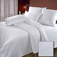 Страйп-сатин белый для постельного белья