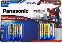 Батарейка panasonic evolta aaa bli 8 alkaline spider man