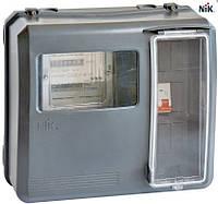 Шкаф учета универсальный под 1-ф. и 3-х ф.счетчики (DOT-3.1B выпуклый) IP 54