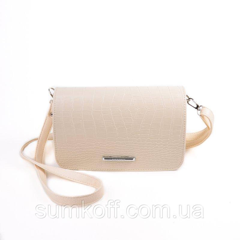 3ac4914501bd Бежевая сумочка клатч через плечо М63-12 64 кородил  продажа, цена в ...