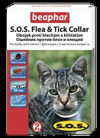 Beaphar Ошейник SOS от блох и клещей для кошек (12453)
