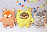Подушка игрушка на выбор. Лиса, мишка или енот.
