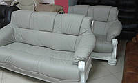 """Кожаный диван и кресла на дубе """"KATRIN, шкіряні меблі,кожаный  диван"""