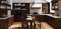 Классическая кухня RODA ДУБЛИН: оригинальна и изысканна, фасады МДФ декорированы орнаментом и патиной