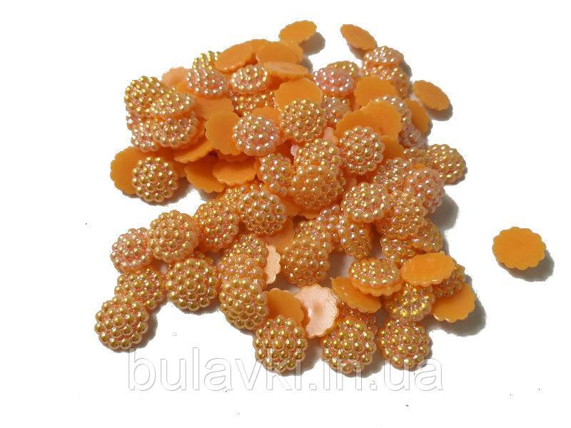 Серединки для канзаши хамелион оранж   14гр
