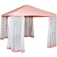 Садовый павильон с москитной сеткой DU171 3х4 м бежевый