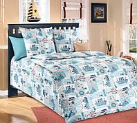 Ткань для детского постельного белья, бязь Кораблики