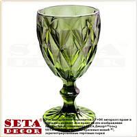 Бокал из цветного стекла зеленый декоративный