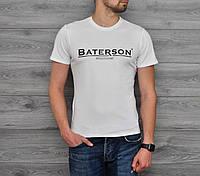 Мужская Футболка Baterson принт белая