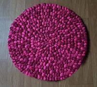 Шикарный фиолетовый ковер ручной работы из шерсти