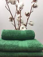Махровое полотенце 50Х90 зеленое