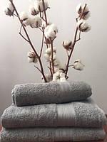 Махровое полотенце 50Х90 темно-серое