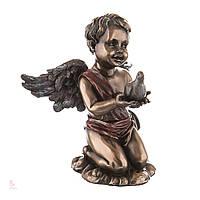 Статуэтка Veronese Ангелочек Купидон с голубкой 70504A4