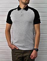 Мужское Поло Baterson Black Sleeve