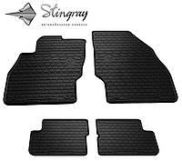 Резиновые коврики Stingray Стингрей Opel Corsa D 2006- Комплект из 4-х ковриков Черный в салон. Доставка по всей Украине. Оплата при получении