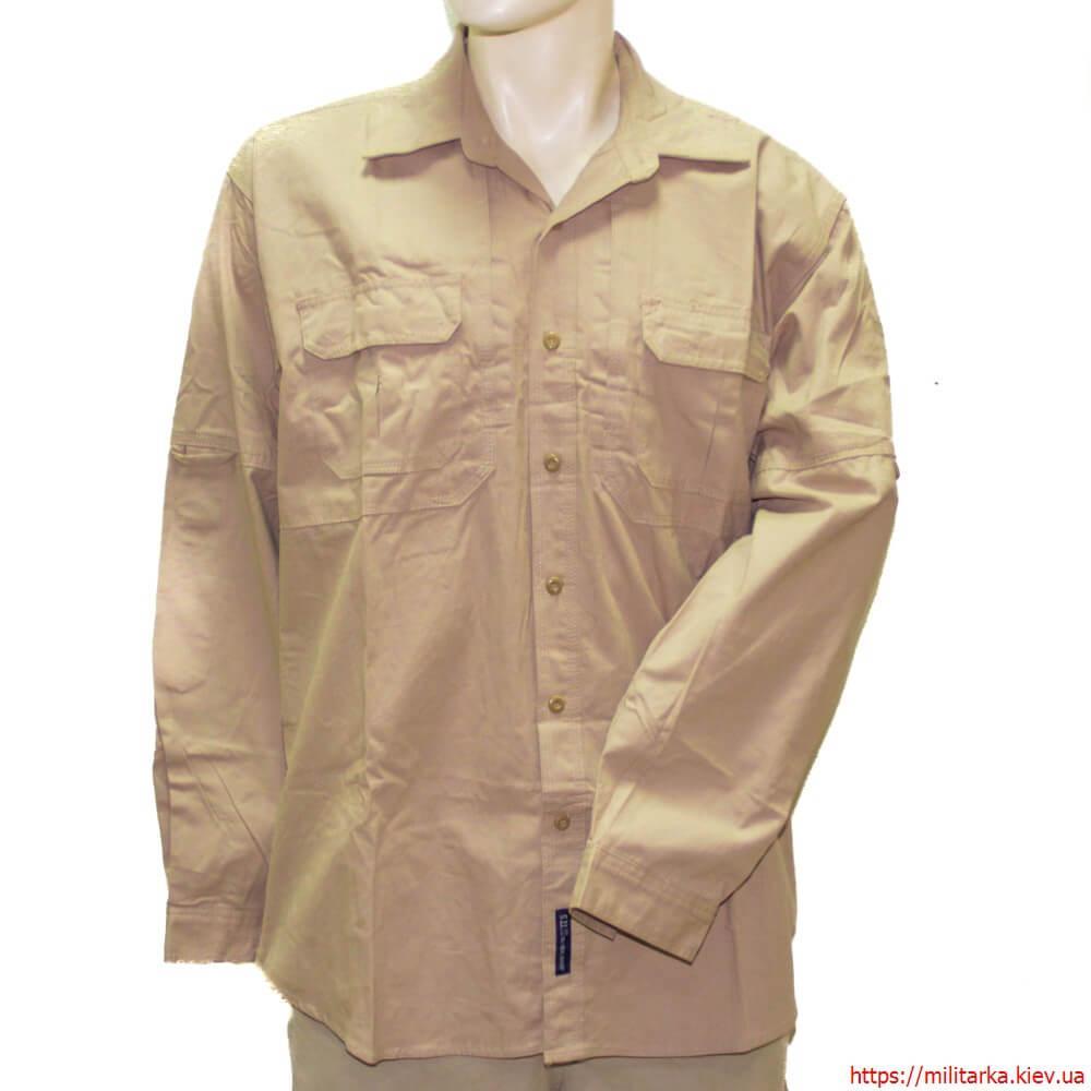 Рубашка тактическая длинный рукав хаки